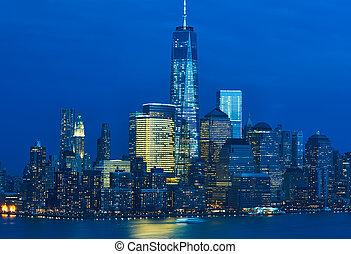 El horizonte de Manhattan de Nueva York