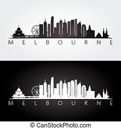 El horizonte de Melbourne y la silueta