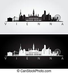 El horizonte de Viena y las siluetas