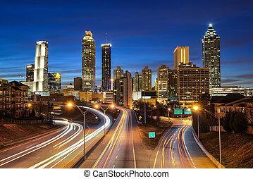 El horizonte del centro de Atlanta