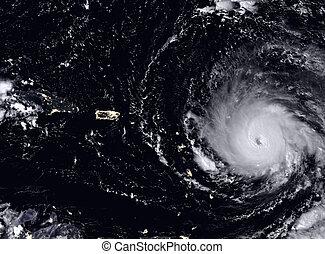 El huracán Irma visto desde el espacio. Los elementos de esta imagen están amueblados por la NASA