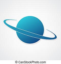 El icono azul del planeta
