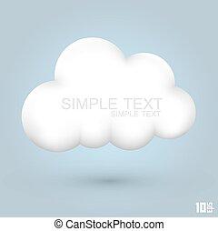 El icono de Cloud Glossy