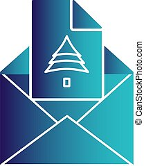 El icono de correo de Vector
