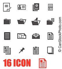 El icono de documentos de Vector Grey
