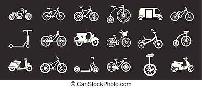 El icono de la bicicleta marca vector gris