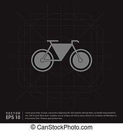 El icono de la bicicleta retro