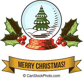 El icono de la bola de nieve de Navidad