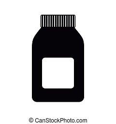 El icono de la botella de medicina