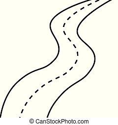 El icono de la carretera