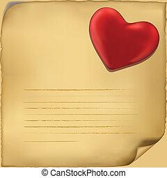 El icono de la carta de amor. Ilustración de antecedentes blancos