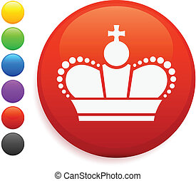 El icono de la corona real en el botón de Internet