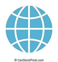 El icono de la esfera global