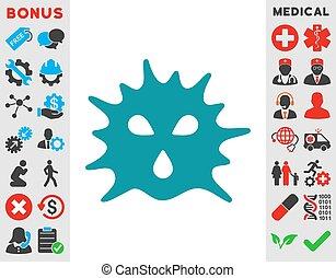 El icono de la estructura del virus
