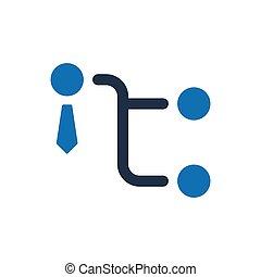 El icono de la estructura empresarial