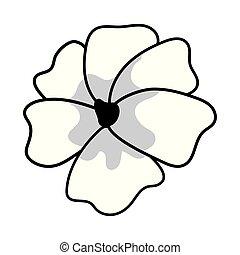 El icono de la flor de cerezo