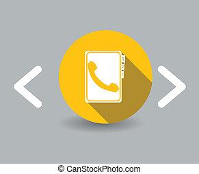 El icono de la guía telefónica