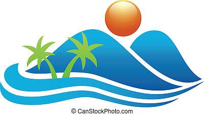 El icono de la isla tropical