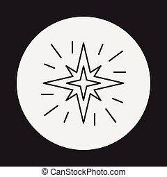 El icono de la línea espacial
