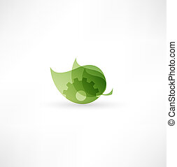 El icono de la máquina ecológica