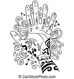 El icono de la mano