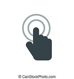 El icono de la mano de la maldición, estilo plano