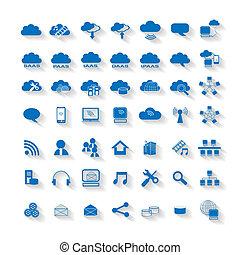 El icono de la red de computación de nubes