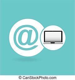 El icono de la red de correo portátil