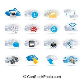 El icono de la red de nubes está listo