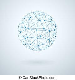 El icono de la red global