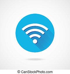 El icono de la red inalámbrica