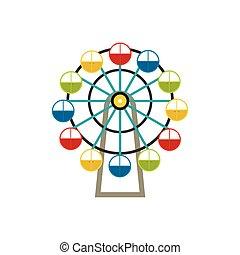 El icono de la rueda de la fortuna