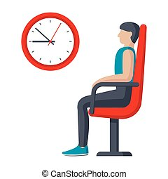 El icono de la sala de espera