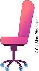 El icono de la silla de escritorio, estilo de dibujos animados
