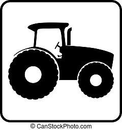 El icono de la silueta Tractor