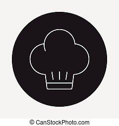 El icono de la sombrerería Chef