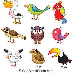 El icono de las aves de cartón
