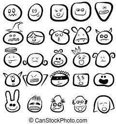 El icono de las caras de emoción