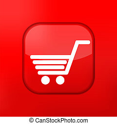 El icono de las compras rojas. Eps10. Fácil de editar