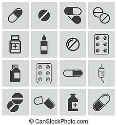 El icono de las píldoras negras