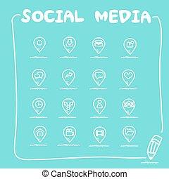 El icono de las redes sociales
