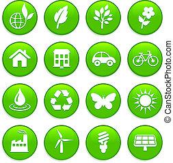 El icono de los elementos ambientales