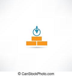 El icono de materiales de construcción