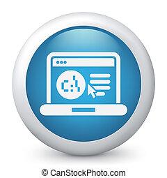 El icono de página web de software