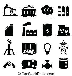 El icono de petróleo y energía