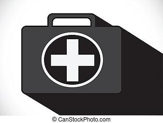 El icono de primeros auxilios