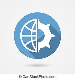 El icono de tecnología global Vector