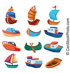 El icono de un bote de cartón