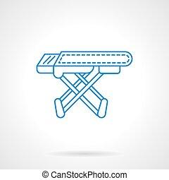 El icono de vector azul de la tabla de planchar