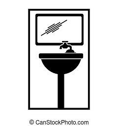 El icono del baño de Pictogram